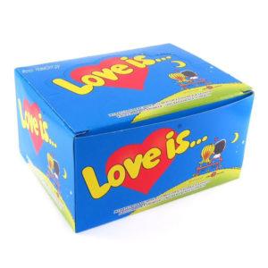 Жвачка Love is банан клубника
