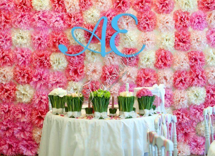 Бумажные помпоны и аксессуары из бумаги тишью Цветочный домик Floristella