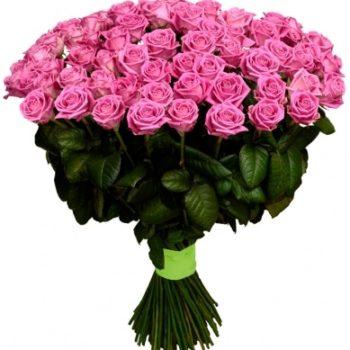 Букет из 101 розы Розовая пантера