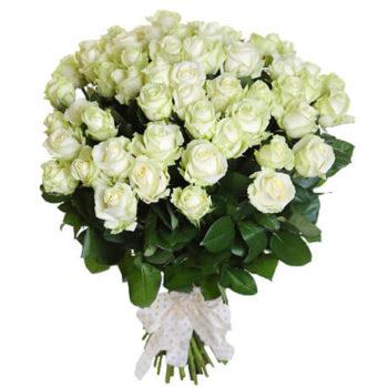 Букет из 101 белой розы Я восхищаюсь