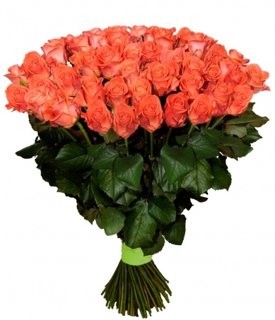 Букет 101 роза сорта Вау