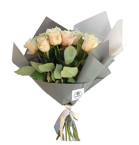 Букет Кремовых роз Талея
