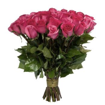 Букет из 25 голландских розовых роз Глянец