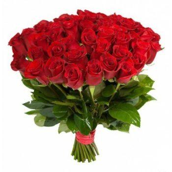 Букет из 51 голландской красной розы