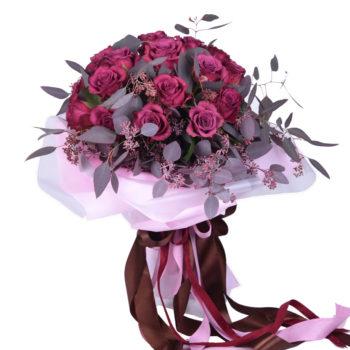 Букет из винной розы