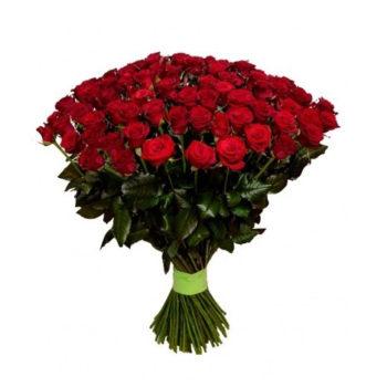 Букет из 101 красной розы Восхищение