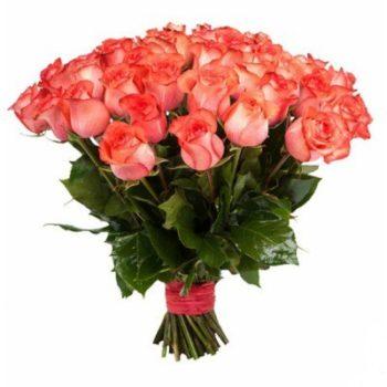 Букет из 21, 35 или 51 коралловой розы