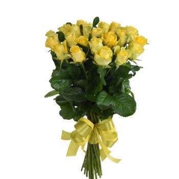Букет 21 желтая роза