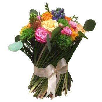 Снопик с гиацинтами и розами