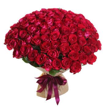 Букет из 101 вишневой розы Черри