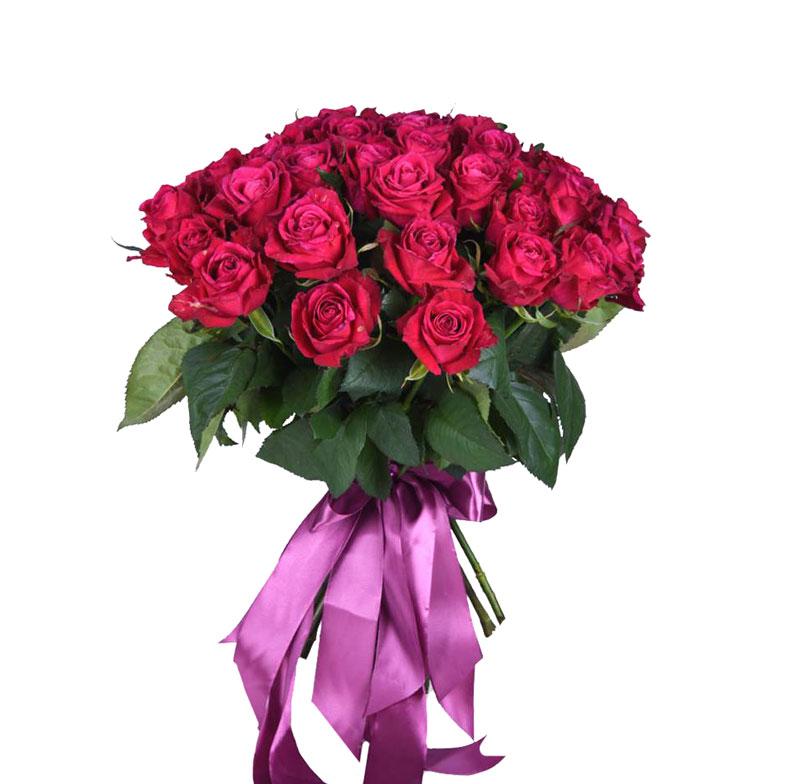 Букет из 51 вишневой розы Шангри-ла