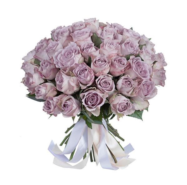 Букет из 51 лиловой розы мемори лейн